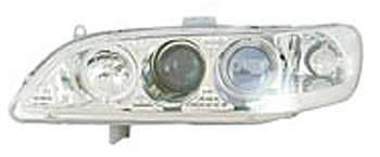 I-Tech - I-Tech Projector Headlights with Chrome Housing and Clear Lights - 02KSHA98PCCRIM