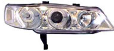 I-Tech - I-Tech Projector Headlights with Chrome Housing and Halo Ring and Blue Lights - 02YDHA94PCBRIM