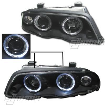 MotorB - 1 PC Projector Headlights - Black