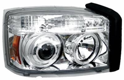 In Pro Carwear - Dodge Dakota In Pro Carwear Projector Headlights - CWS-404C2