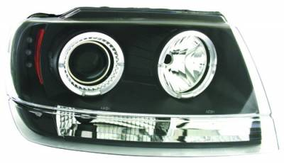 In Pro Carwear - Jeep Grand Cherokee IPCW Headlights - Projector - 1 Pair - CWS-5002B2