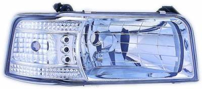 In Pro Carwear - Ford F150 IPCW Headlights - Diamond Cut with Corners - 1 Pair - CWS-530C2