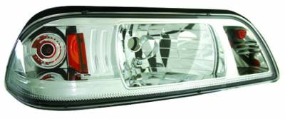 In Pro Carwear - Ford Mustang IPCW Headlights - Diamond Cut with Corner & Parklight - 1 Pair - CWS-532C2
