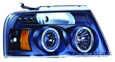 In Pro Carwear - Ford F250 IPCW Headlights - Projector with Rings with Amber Reflector - 1 Pair - CWS-538B2