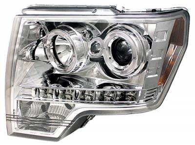 In Pro Carwear - Ford F150 In Pro Carwear Projector Headlights - CWS-568C2