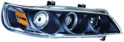 In Pro Carwear - Honda Accord IPCW Headlights - Projector with Rings & Corners with Amber Reflector - 1 Pair - CWS-710B2