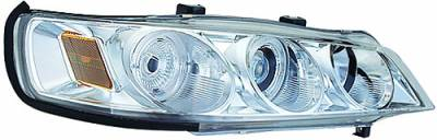 In Pro Carwear - Honda Accord IPCW Headlights - Projector with Rings & Corners with Amber Reflector - 1 Pair - CWS-710C2