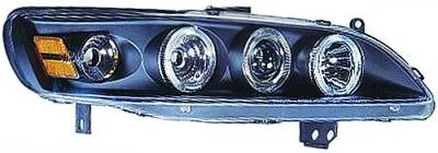 In Pro Carwear - Honda Accord IPCW Headlights - Projector with Rings with Amber Reflector - 1 Pair - CWS-712B2