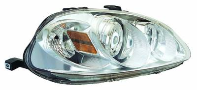 In Pro Carwear - Honda Civic IPCW Headlights - Projector with Rings with Amber Reflector - 1 Pair - CWS-729C2