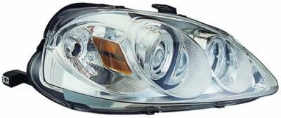 In Pro Carwear - Honda Civic IPCW Headlights - Projector with Rings with Amber Reflector - 1 Pair - CWS-730C2