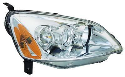 In Pro Carwear - Honda Civic IPCW Headlights - Projector with Rings with Amber Reflector - 1 Pair - CWS-736C2