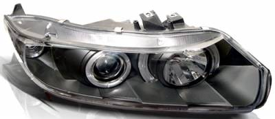 In Pro Carwear - Honda Civic 2DR In Pro Carwear Projector Headlights - CWS-746B2