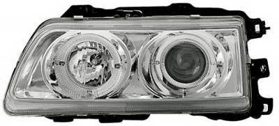 In Pro Carwear - Honda CRX IPCW Headlights - Projector - 1 Pair - CWS-787C2