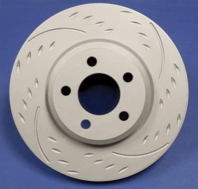 SP Performance - Subaru Impreza SP Performance Diamond Slot Solid Rear Rotors - D47-1554