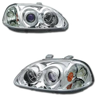 Motor Blvd - Chrome Dual Halo Projector Headlights