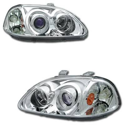 Motor Blvd - Chrome Dual Halo Projector Headlights