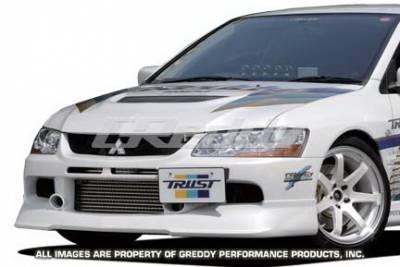 Greddy - Mitsubishi Lancer Greddy Gracer Aero-Style Lancer Front Lip - Urethane - 17030013