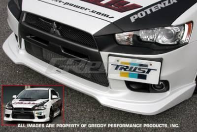 Greddy - Mitsubishi Lancer Greddy Aero Front Lip - Urethane - 17030014