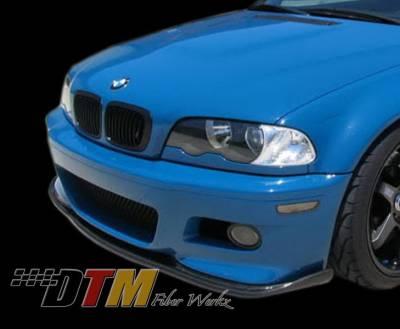 DTM Fiberwerkz - BMW 3 Series DTM Fiberwerkz M3 HM Style Front Lip - E46M3HMLIP CFRP