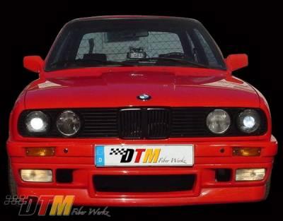 DTM Fiberwerkz - BMW 3 Series DTM Fiberwerkz BRYTN Style Front Bumper - E30-BRYTN-ST