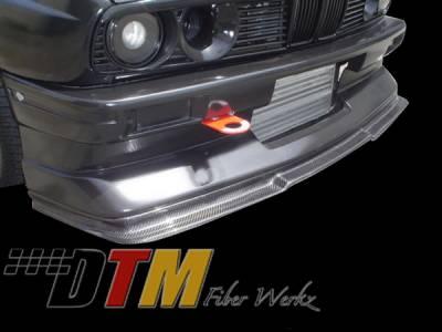 DTM Fiberwerkz - BMW 3 Series DTM Fiberwerkz Evo R Style Front Cup Lip - E30-M3-EVO-R