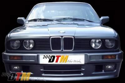 DTM Fiberwerkz - BMW 3 Series DTM Fiberwerkz Mtech II Style Front Bumper - E30-MTECH-II