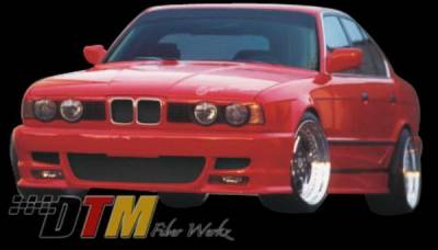 DTM Fiberwerkz - BMW 5 Series DTM Fiberwerkz M5 Style Front Bumper - E34-M5