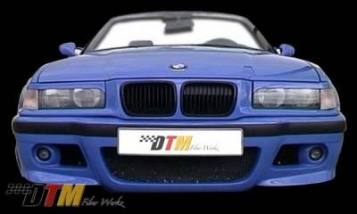 DTM Fiberwerkz - BMW 3 Series DTM Fiberwerkz E46 Style Front Bumper - E36-M3-E46-S