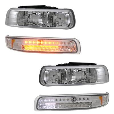 MotorBlvd - Chevrolet  Headlights w/ LED Signals