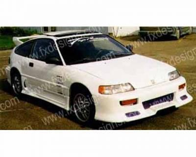FX Designs - Honda CRX FX Design Combat Style Front Bumper Cover - FX-309