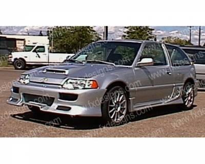 FX Designs - Honda Civic FX Design Combat Style Front Bumper - FX-313