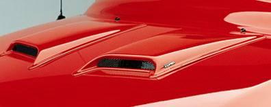 Lund - Chevrolet S10 Lund Hood Scoops - Medium - 80002