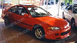 FX Designs - Honda Civic FX Design Front Air Dam - FX-74