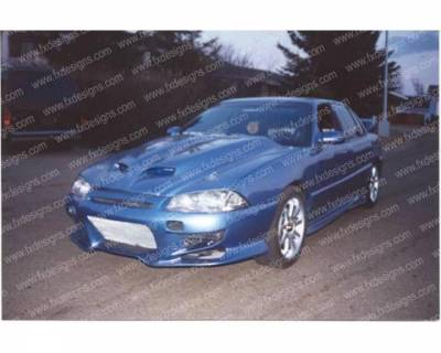 FX Designs - Pontiac Grand Am FX Design VS Combat Style Front Bumper - FX-749