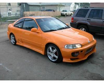 FX Designs - Honda Civic FX Design VS Combat Style Front Bumper - FX-90A