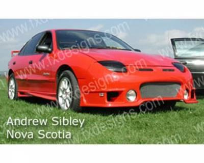 FX Designs - Pontiac Sunfire FX Design Rally Style Front Bumper Cover - FX-912