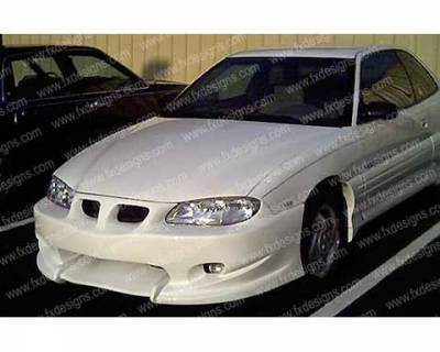 FX Designs - Pontiac Grand Am FX Design VSX Style Front Bumper Cover - FX-995