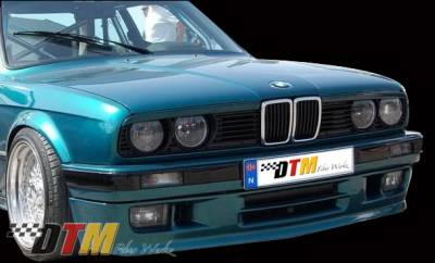 DTM Fiberwerkz - BMW 3 Series DTM Fiberwerkz M-Tech II Style Front Apron - E30 Mtech II