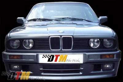 DTM Fiberwerkz - BMW 3 Series DTM Fiberwerkz M-Tech II Style Front Bumper - E30 Mtech II