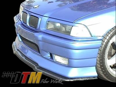 DTM Fiberwerkz - BMW 3 Series DTM Fiberwerkz RG Infinity Style Front Splitter - E36 RG Infin