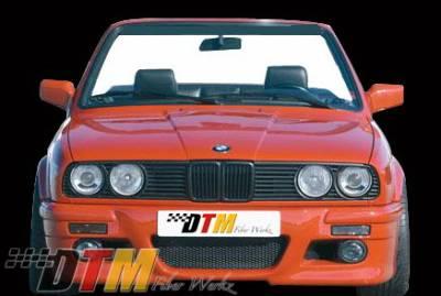 DTM Fiberwerkz - BMW 3 Series DTM Fiberwerkz RG E46 M3 Style Front Bumper - E30 RG E46 M