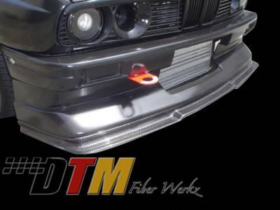 DTM Fiberwerkz - BMW 3 Series DTM Fiberwerkz M3 Evo R Style Front Cup Lip - E30 M3 Evo R