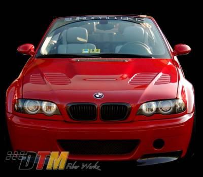 DTM Fiberwerkz - BMW 3 Series DTM Fiberwerkz CSL V1 Style Front Bumper - E46 CSL V1 S