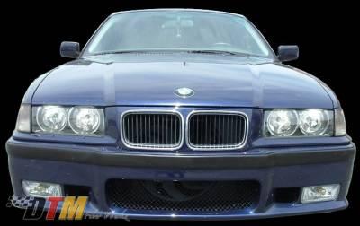 DTM Fiberwerkz - BMW 3 Series DTM Fiberwerkz OEM M3 Style Front Bumper - E36 OEM M3 S