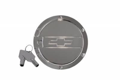 Defenderworx - Chevrolet Camaro Defenderworx Bowtie for Locking Fuel Door - Chrome - CC1005