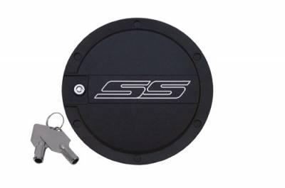 Defenderworx - Chevrolet Camaro Defenderworx SS Logo Locking Fuel Door - Two-Tone - CT1004