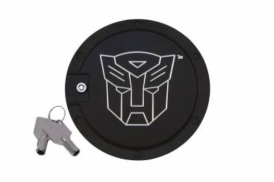 Defenderworx - Chevrolet Camaro Defenderworx Transformers Autobot Locking Fuel Door - Two Tone - TT1005