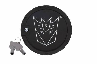 Defenderworx - Chevrolet Camaro Defenderworx Transformers Decepticon Locking Fuel Door - Two Tone - TT1009