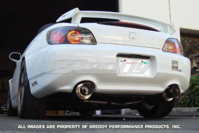 Greddy - Honda S2000 Greddy Racing Ti-C Catback Exhaust System with Dual Mufflers - 10157910