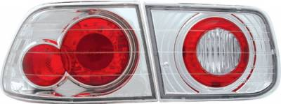In Pro Carwear - Honda Civic 2DR IPCW Taillights - Crystal Eyes - M3 Style with LED Turn - 1PC - CWT-729C2